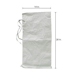 white sandbag for flooding